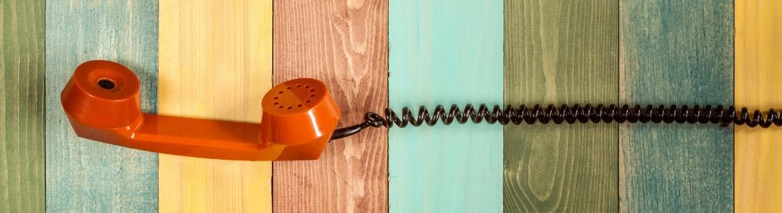 Telephone receiver to contact new solicitors