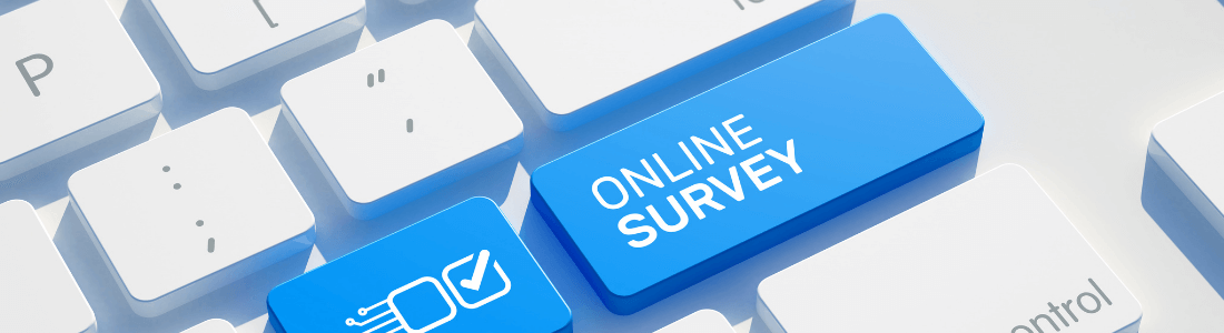 Online survey button on keyboard