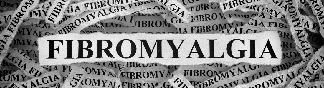 Fibromyalgia word cut out of newspaper