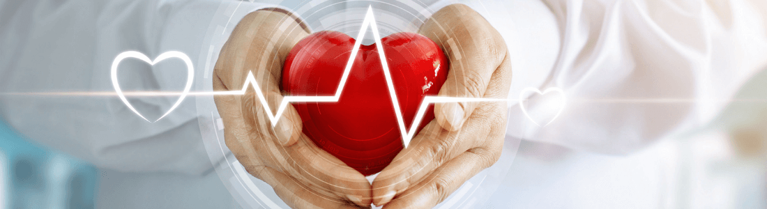 Hands cupping a heart
