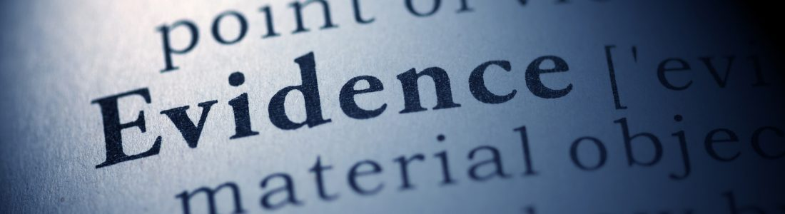 Evidence dictionary definition
